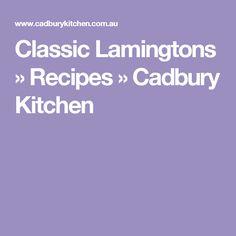 Classic Lamingtons » Recipes » Cadbury Kitchen