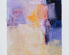 11 juin 2017 peinture - abstrait peinture à l'huile - 9 x 9 (9 x 9 cm - environ 4 x 4 pouces) avec 8 x 10 pouces mat