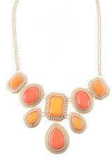 Coral Jewel Statement Necklace - Modeets
