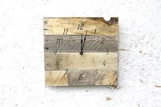Rustic, natural reclaimed wood clock.  Farmhouse style...gift.  Custom