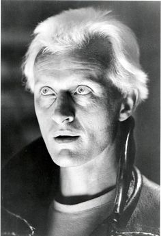 Rutger Hauer in Blade Runner 1982 .. a favorite ... I even love the music by Tangerine Dream!