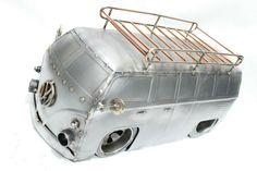 Vw volks bus volkswagen van metal art Metalart metal art racing motorsports welding sculpture automotive cars love tig recycled reused race used