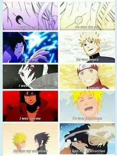 Sasuke & Naruto It's great how Sasuke is the one saying this