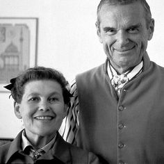 """Charles Ormond Eames, Jr (1907–1978) and Bernice Alexandra """"Ray"""" (née Kaiser) Eames (1912–1988) were husband and wife American designers who made significant historical contributions to the development of modern architecture and furniture. Among their most well-known designs is the Eames Lounge Chair. In the late 1940s, as part of the Arts & Architecture magazine's """"Case Study"""" program, the Eames designed and built the groundbreaking Eames House, Case Study House 8, as their home."""