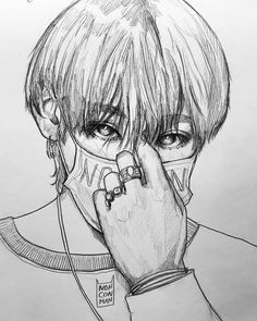 You know when you're obsessed when you can yell this Tae from the FANART of his hands eyes and ears! K Pop, Taehyung Fanart, Bts Taehyung, Kpop Drawings, Pencil Drawings, Bts Eyes, Sketchbook Tour, Kpop Fanart, Art Inspo