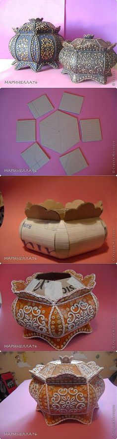 25 New things made with DIY cardboard box anyone can make - - cardboard upcycling ideas Cardboard Furniture, Cardboard Crafts, Cardboard Boxes, Cardboard Storage, Fun Crafts, Diy And Crafts, Arts And Crafts, Diy Projects To Try, Craft Projects