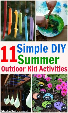 11 Kid's Outdoor Activities That Are Simple, Frugal, and FUN! is part of Outdoor Summer crafts - Looking for some fun kid's outdoor activities to do this summer Check out these simple DIY kids' outdoor activities Easy, little prep, & low cost Arts And Crafts Projects, Crafts To Do, Projects For Kids, Crafts For Kids, Outdoor Activities For Kids, Activities To Do, Toddler Activities, Outdoor Games, Backyard Games