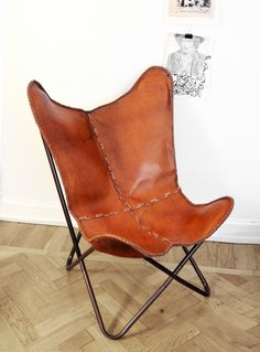 Love. Leather Batwing chair.
