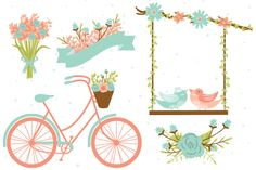 Wedding Clipart Elements EPS & PNG ~ Illustrations on Creative Market