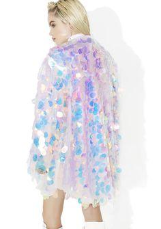 B Glittz Iridescent Sequin Kimono Festival Outfits, Festival Fashion, Look Fashion, Fashion Design, Womens Fashion, Holographic Fashion, Sequin Kimono, Unicorn Outfit, Glamour