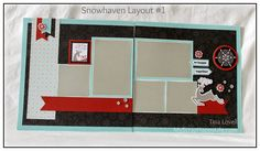 Scrapbooking Kits: Snowhaven 6-Page Scrapbooking Kit - perfect for Holiday or Winter themed scrapbook pages. Kits come pre-cut and ready for assembly! #CTMH #snowhaven #scrapbooking
