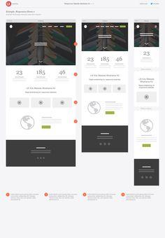 Responsive Website Wireframe Kit — Wireframe Kits on Creative Web Design, Web Design Tips, Design Strategy, Web Design Company, Web Design Inspiration, App Design, Design Process, Flyer Design, Responsive Layout