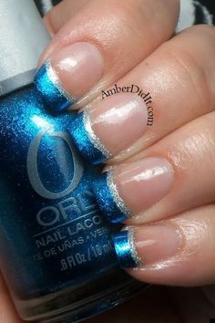23 Winter French Tip Nail Designs Ultimately, take silver bow Christmas stickers and put them just in addition to the line wherever your nail polish ends. Acrylic nails are created of a liquid and a powder. Before you are able to apply the acrylic nails French Nails, Silver French Manicure, Gold Manicure, Manicure Tools, Homecoming Nails, Prom Nails, Wedding Nails, French Tip Nail Designs, Nagel Hacks