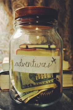 adventures ✈ jar Candle Jars, Candles, Mason Jars, Volunteer Abroad, Spam, Adventure, Bottle, Shoe Bag, Life