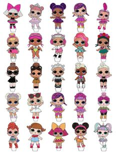 £1.99 GBP - 25 Precut/Uncut Lol Surprise Dolls Stand Up Edible Cupcake Toppers Wafer Card #ebay #Home & Garden