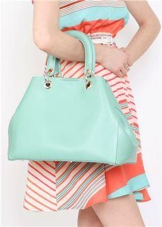 baby blue Handbag