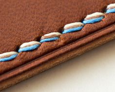 How to: Tri-Tone Stitching From Earlier Today : Leathercraft