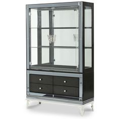 AICO Hollywood Swank Starry Night Curio with Drawers AI-NU03515-81 $2148.00