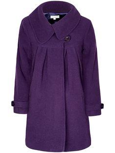 Purple Short Maternity Swing Coat   JoJo Maman Bebe