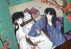 Kikyo and Naraku