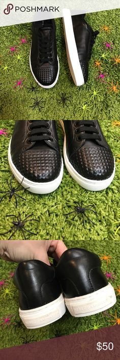 Rebecca Minkoff black sneakers Brand new without tags! Missing their box. Awesome stud like detailing at the toes. These have such a bad a*sness to them! Bundling is fun; check out my other items! Home is smoke free/ cat friendly. No price talk in comments. No trades or holds. NO SPAM. A612 Rebecca Minkoff Shoes Sneakers