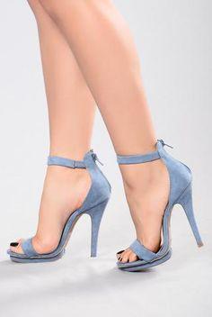 3bfbe32b7a8 Step into Suede Heel - Blue Suede Heels