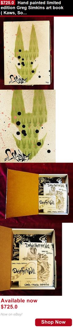 Art And Exhibitions: Hand Painted Limited Edition Greg Simkins Art Book( Kaws, Soto, Retna, Mcgee) BUY IT NOW ONLY: $725.0