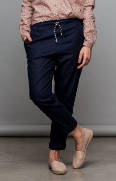 Summer pant in linen - meandmay - Rybaczki