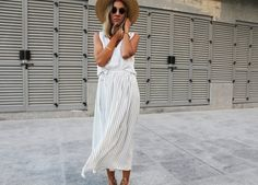 Maxi-length easy wrap skirt, make one following my tutorial: http://contouraffair.blogspot.ae/2015/12/how-to-basic-striped-maxi-wrap-skirt.html