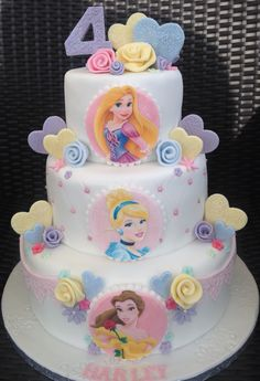 Three tier Disney Princess Cake