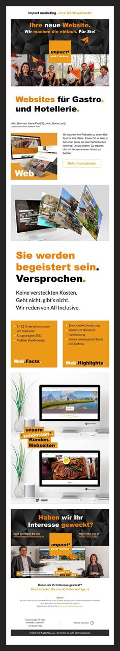 impact marketing - Ihre Werbewerkstatt Marketing, Fine Dining, Website