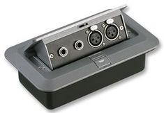 AV16209 - AV Floor Box with 2x XLR & 6.35mm Stereo Jack Female Connectors