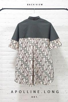 Apolline Long 001 IDR 695.000 Contemporary Batik Parang Fusion Formal Buttoned Dress  Length of Dress:  approx. 90 cm  Material used : Batik Parang, Cap Kombinasi Tulis, Cotton / Premium Cotton Stretch  Free Size (Bust up to 94cm)