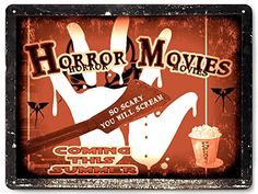 spooky horror Movie poster metal Sign halloween scary Jason Freddy Wall decor / vintage style wall decor 062 19.95