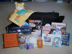 Daddy-To-Be Survival Kit - some cute ideas here as well