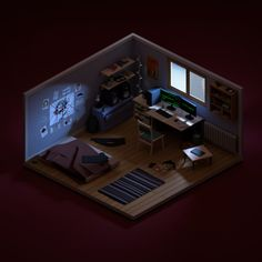 Narrow House Designs, Small House Design, Cool House Designs, Study Room Design, Game Room Design, Room Perspective Drawing, Iphone Wallpaper Smoke, Bedroom Gaming Setup, Small Game Rooms