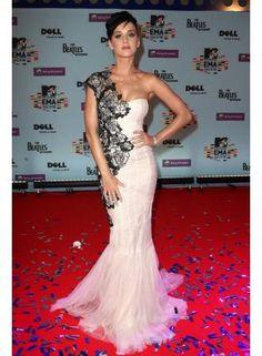 $129 Custom-Made 2011 New Style Tulle one-shoulder Mermaid Floor-length Beaded Celebrity Dress from 27dress.com