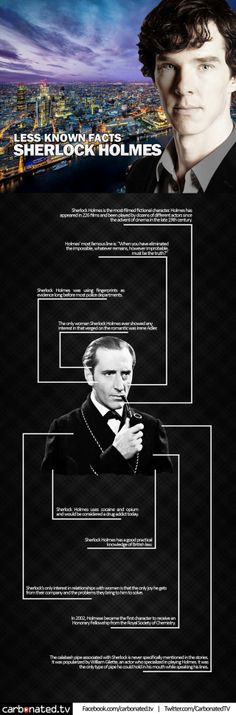 Less Known Facts about Sherlock Holmes! http://www.carbonated.tv/entertainment/here-are-some-facts-about-sherlock-holmes-factbox
