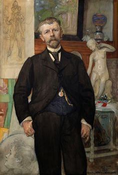 Portrait of the architect  Jacob Ahrenberg  Carl Larsson  1898