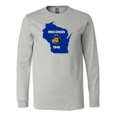Wisconsin Flag Long Sleeve Tee