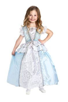 A gorgeous newly updated for 2014 Cinderella dress up costume!  Fun for every day dress up, your next Disney vacation trip or a princess party!  #Disney #Cinderella #princess #dressup #party