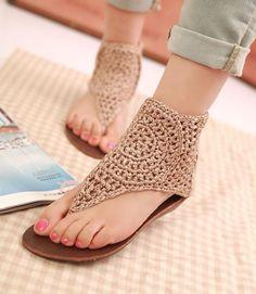 crochet sandals                                                                                                                                                                                 Más
