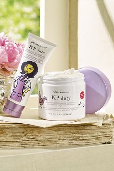 Dermadoctor KP Duty Moisture Therapy and Duty Body Scrub Improve the appearance of chicken skin bumps (aka Keratosis Pilaris).  Try them also for self-tanner prep!