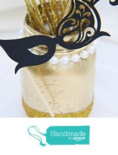 Graduation party decorations , Glitter Mason Jar, Gold and Black centerpiece, 2016 from Crafted By Yudi https://www.amazon.com/dp/B019H3SSZO/ref=hnd_sw_r_pi_dp_DJzdxb87PYCPC #handmadeatamazon