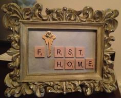 Shabby Chic Cream Baroque Frame Key Holder cute keepsake