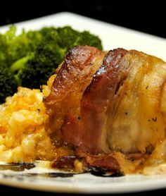 Bacon Wrapped Stuffed Chicken Thighs Print Dig-in High cal Calories...