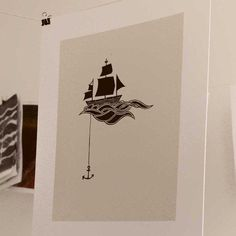 Hey, I found this really awesome Etsy listing at http://www.etsy.com/listing/92243346/anchored-ship-linocut-block-print