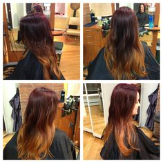 Hair like fire =) red and blonde ombre compliments of Shannon from Christiaan Salon in Providence RI.