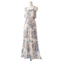 Jessica Howard Floral Chiffon Maxi Dress
