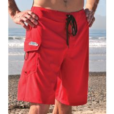 "Setting the bar for stretchy swimwear, the Mic Super Stretch is made out of 94% polyester 4-way super stretch, 6% spandex, allowing for easy movement in and out of the water.  Fabric: 94% Polyester 4-Way Super Stretch, 6% Spandex  Inseam: 10""  Features: Radio Pocket with Velcro closure, lycra fly.  Sizes: 20, 22, 24, 26, 28, 30, 32, 34, 36, 38, 40, 42, 44  Colors: Red, Navy  Regular Price: $54"